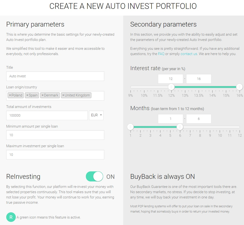 Fast Invest review - auto invest
