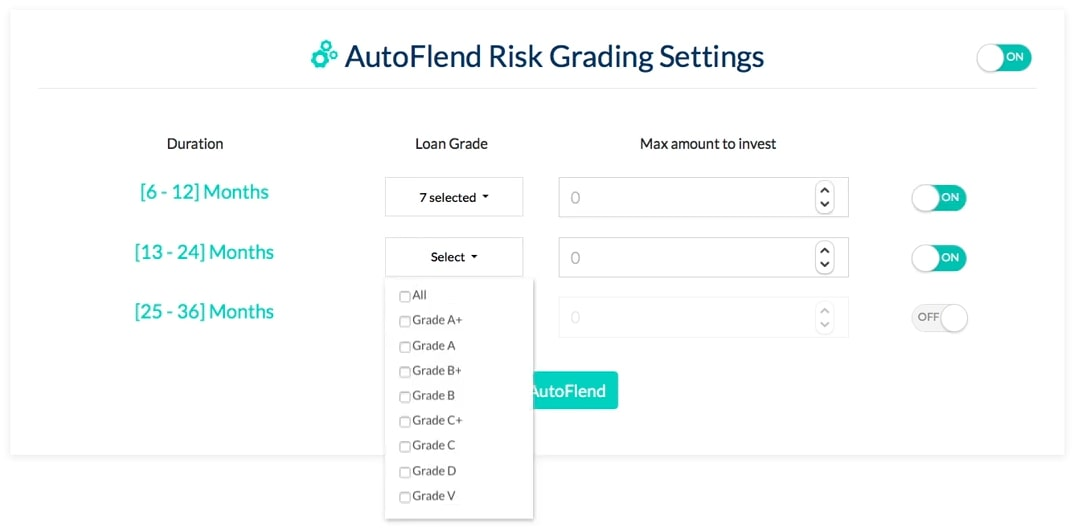 AutoFlend settings
