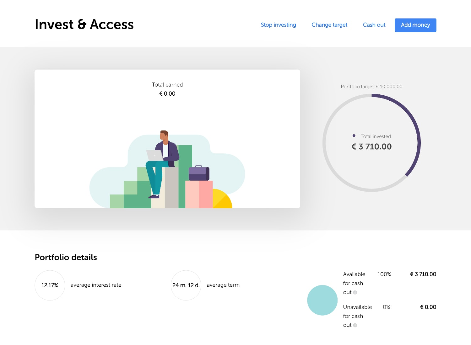 Mintos invest and access dashboard